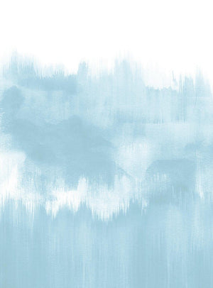 Wizard+Genius Brush Strokes Light Blue Vlies Fotobehang 192x260cm 4-banen | Yourdecoration.be
