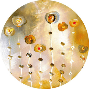 Wizard+Genius Golden Eye Vlies Fotobehang 140x140cm rond | Yourdecoration.be