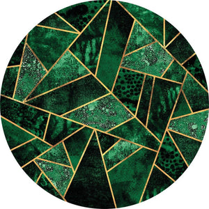 Wizard+Genius Dark Green Emeralds Vlies Fotobehang 140x140cm rond | Yourdecoration.be