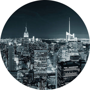 Wizard+Genius New York at Night II Vlies Fotobehang 140x140cm rond | Yourdecoration.be