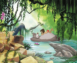 Komar Jungle Book Swimming with Baloo Fotobehang 368x254cm 8-delig | Yourdecoration.be