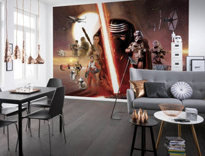 Komar Star Wars EP7 Collage Fotobehang 368x254cm | Yourdecoration.be