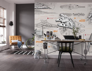 Komar Star Wars Blueprints Fotobehang 368x254cm | Yourdecoration.be