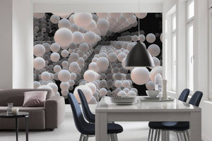 Komar 3D Spherical Fotobehang 368x254cm | Yourdecoration.be