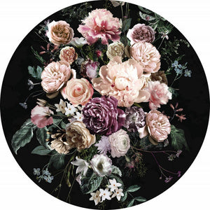 Komar Enchanted Flowers Fotobehang 125x125cm Rond | Yourdecoration.be