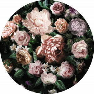 Komar Flower Couture Fotobehang 125x125cm Rond | Yourdecoration.be