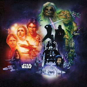 Komar Star Wars Classic Poster Collage Vlies Fotobehang 250x250cm 5-banen | Yourdecoration.be