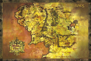 GBeye Lord of the Rings Classic Map Poster 91,5x61cm | Yourdecoration.be