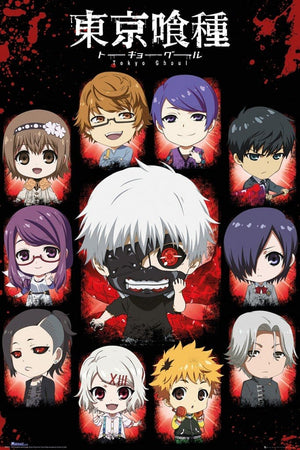 GBeye Tokyo Ghoul Chibi Characters Poster 61x91,5cm | Yourdecoration.be