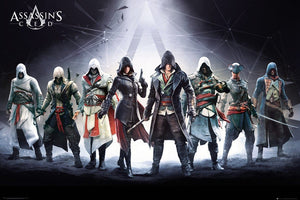GBeye Assassins Creed Characters Poster 61x91,5cm | Yourdecoration.be