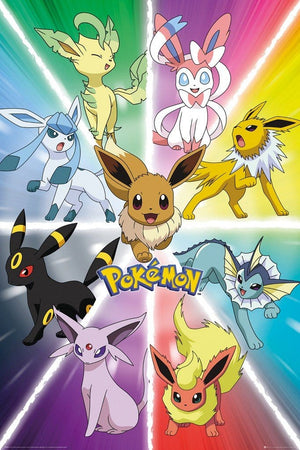 GBeye Pokemon Eevee Evolution Poster 61x91,5cm | Yourdecoration.be