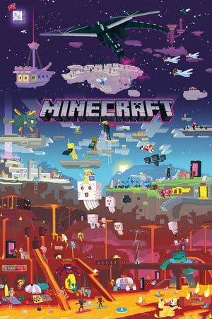 GBeye Minecraft World Beyond Poster 61x91,5cm | Yourdecoration.be