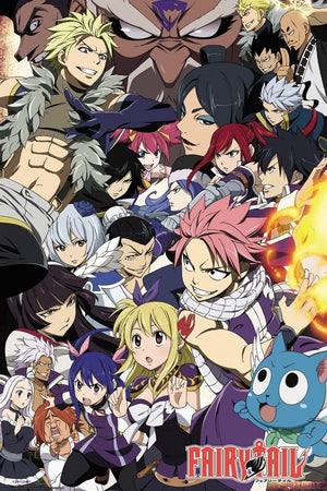 GBeye Fairy Tail Season 6 Key Art Poster 61x91,5cm | Yourdecoration.be