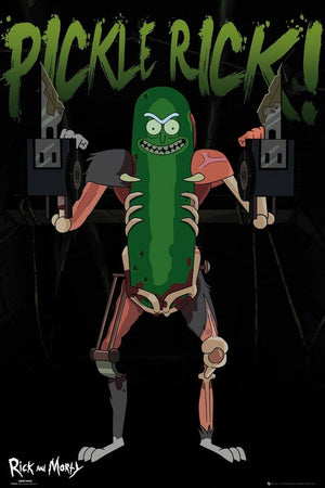 GBeye Rick and Morty Pickle Rick Poster 61x91,5cm | Yourdecoration.be