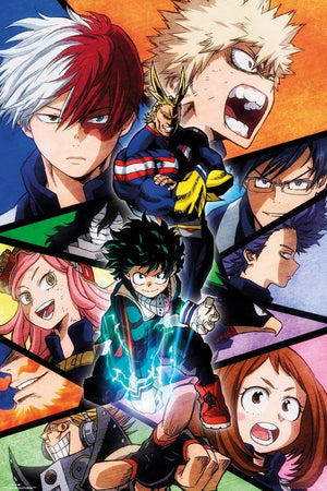 GBeye My Hero Academia Group Poster 61x91,5cm | Yourdecoration.be