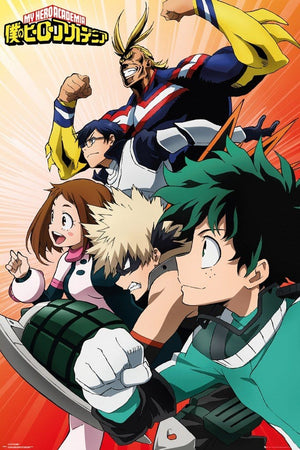 GBeye My Hero Academia Heroes Poster 61x91,5cm | Yourdecoration.be