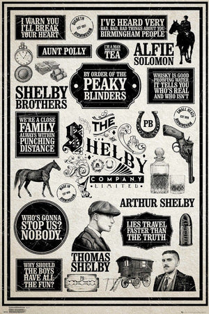 GBeye Peaky Blinders Infographic Poster 61x91,5cm | Yourdecoration.be