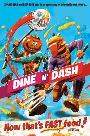 GBeye Fortnite Dine n Dash Poster 61x91,5cm | Yourdecoration.be