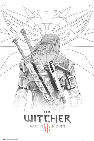 GBeye The WItcher Geralt Sketch Poster 61x91,5cm | Yourdecoration.be