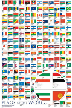 GBeye Flags of the World 2017 Poster 61x91,5cm | Yourdecoration.be