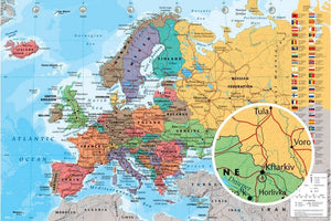 GBeye European Map Poster 91,5x61cm | Yourdecoration.be