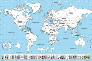 GBeye World Map Colour in Poster 91,5x61cm | Yourdecoration.be