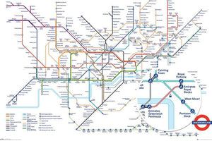 GBeye Transport for London Underground Map Poster 91,5x61cm | Yourdecoration.be