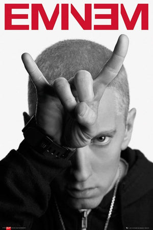 GBeye Eminem Horns Poster 61x91,5cm | Yourdecoration.be