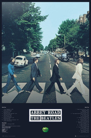 GBeye The Beatles Abbey Road Tracks Poster 61x91,5cm | Yourdecoration.be