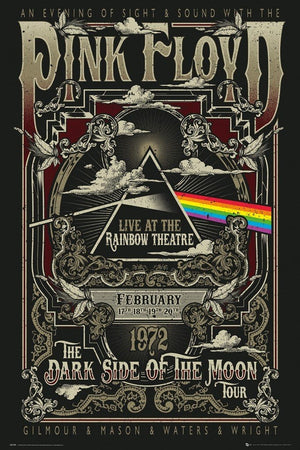 GBeye Pink Floyd Rainbow Theatre Poster 61x91,5cm | Yourdecoration.be