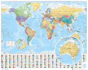 GBeye World Map 2012 Poster 50x40cm | Yourdecoration.be