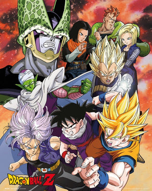 GBeye Dragon Ball Z Cell Saga Poster 40x50cm | Yourdecoration.be