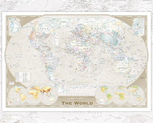 GBeye World Map Tripel Poster 50x40cm | Yourdecoration.be