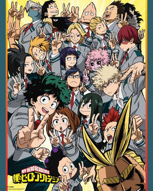 GBeye My Hero Academia School Compilation Poster 40x50cm | Yourdecoration.be