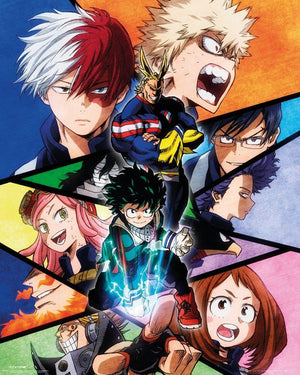 GBeye My Hero Academia Group Poster 40x50cm | Yourdecoration.be