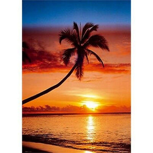 GBeye Sunset and Palm Tree Poster 61x91,5cm | Yourdecoration.nl