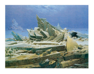 Caspar David Friedrich - Das Eismeer Kunstdruk 90x70cm | Yourdecoration.be