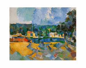 Paul Cézanne - Uferlandschaft Kunstdruk 71x56cm | Yourdecoration.be