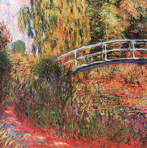Claude Monet - Ponte giapponese Kunstdruk 95x95cm | Yourdecoration.be