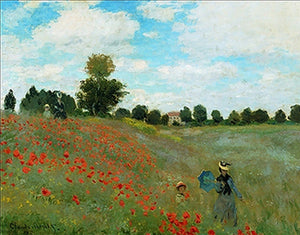 Claude Monet - I papaveri Kunstdruk 80x60cm | Yourdecoration.be