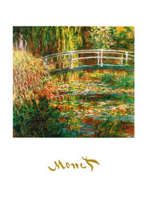 Claude Monet - The Waterlily Pond Kunstdruk 50x70cm | Yourdecoration.be