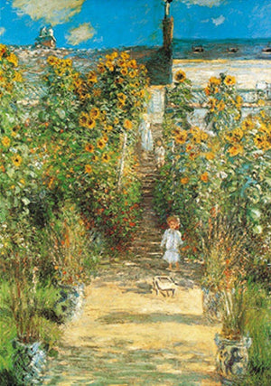 Claude Monet - Il giardino di Monet Kunstdruk 70x100cm | Yourdecoration.be