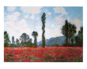 Claude Monet - Campo di papaveri Kunstdruk 50x40cm | Yourdecoration.be
