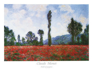 Claude Monet - Field of Poppies Kunstdruk 80x60cm | Yourdecoration.be