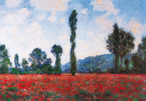 Claude Monet - Campo di papaveri Kunstdruk 100x70cm | Yourdecoration.be
