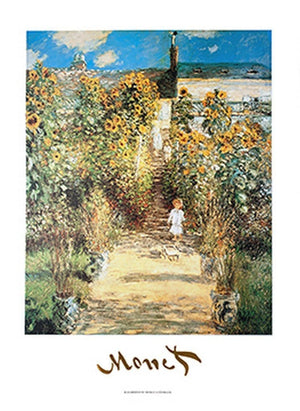 Claude Monet - The Monet's Garden at Vétheuil Kunstdruk 50x70cm | Yourdecoration.be