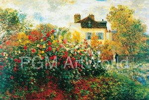 Claude Monet - The Artist's Garden Kunstdruk 100x70cm | Yourdecoration.be