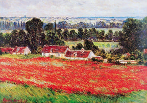 Claude Monet - Field of Poppies Kunstdruk 100x70cm | Yourdecoration.be