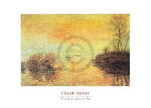 Claude Monet - Le coucher du soleil la Seine Kunstdruk 70x50cm | Yourdecoration.be