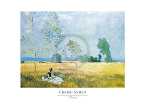 Claude Monet - Printemps Kunstdruk 70x50cm | Yourdecoration.be